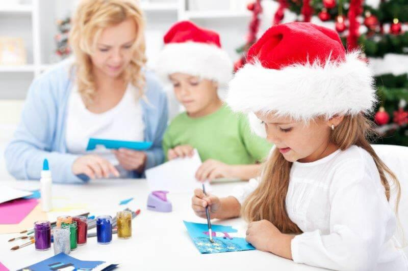 manualidades navideñas taller para niños