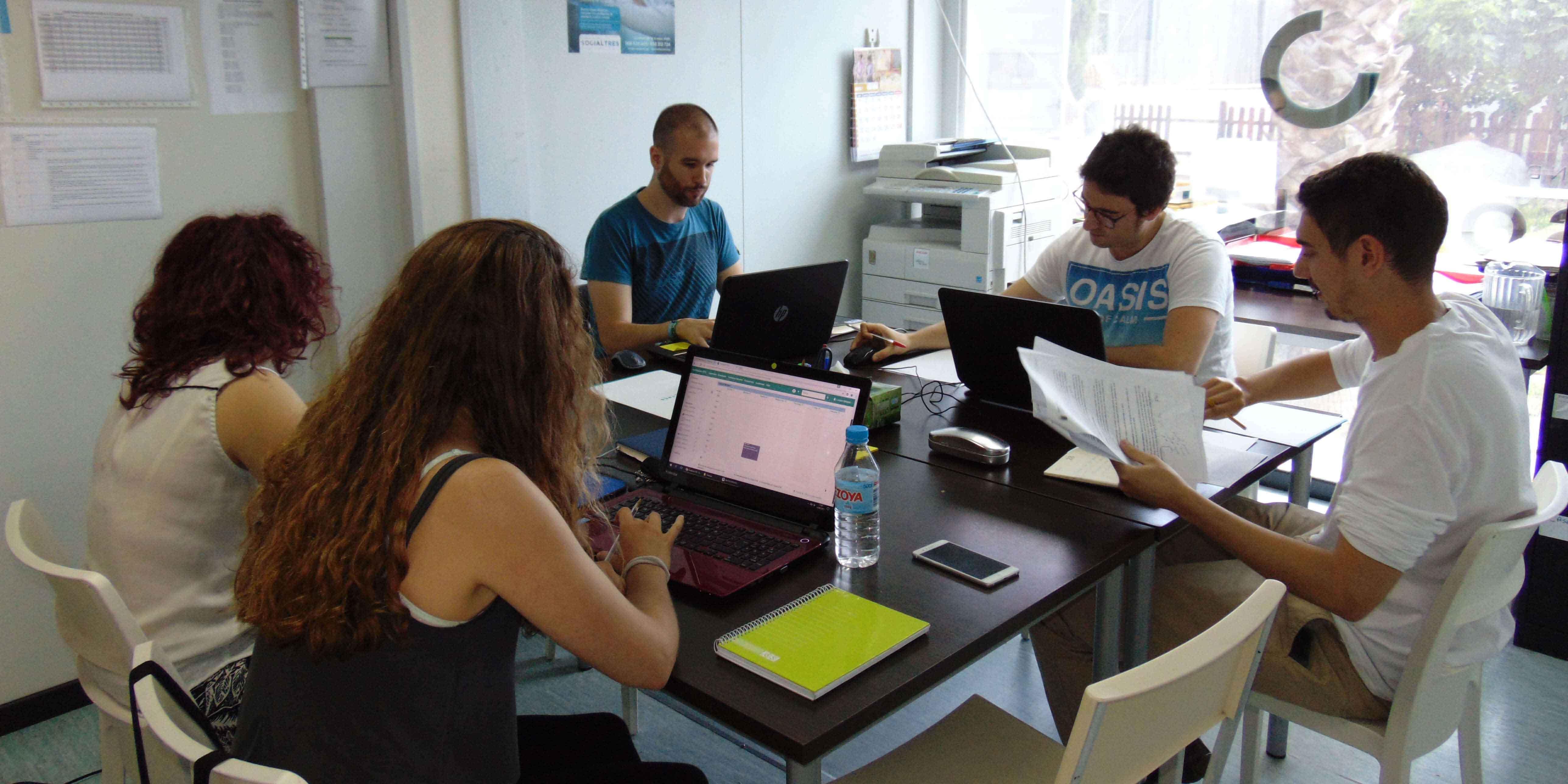 Equipo Técnico + alumnos en prácticas